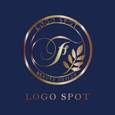 植物つたデザインロゴ,高級感サロン開業看板ロゴ