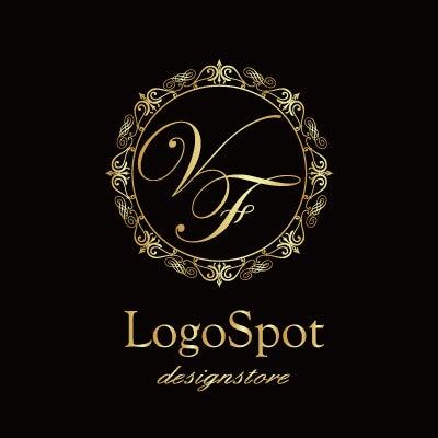 高級デザインロゴ,エレガントなサロン看板ロゴ作製