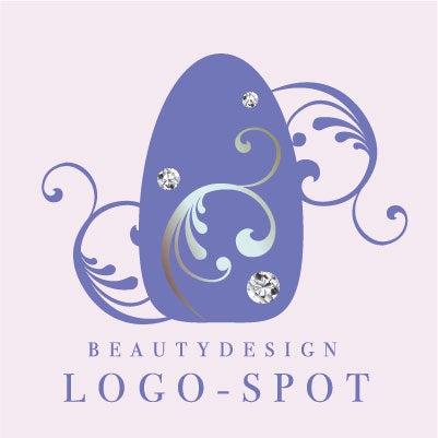 ネイルチップデザインロゴ,きれいネイルサロンロゴ