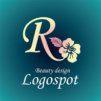 ハワイアンサロンロゴデザイン,可愛い花ロゴ製作