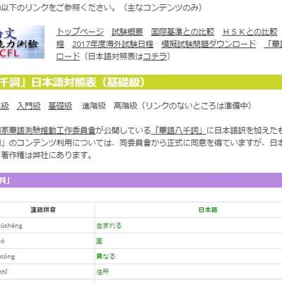 TOCFL(台湾華語検定試験)対策用の教材を作りました!の記事に添付されている画像