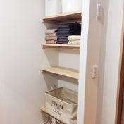 *洗面所の棚の整理をしました。after「夏季限定バージョン」