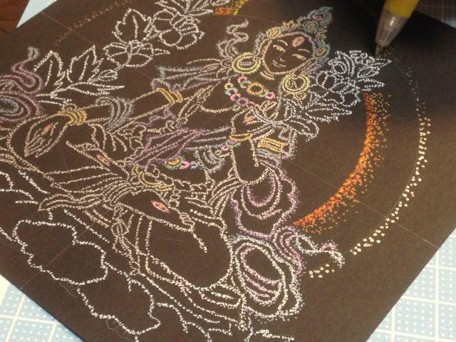 仏画を描く