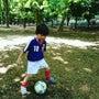 サッカー少年。