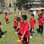 コロンス島でサッカー…