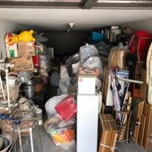 堺市で車庫のお片づけ…