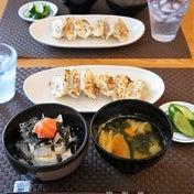 納豆餃子と簡単豆腐丼