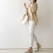 【coordinate】盛り袖トップスコーデ/2色買いのしまむら涼やかパンツ
