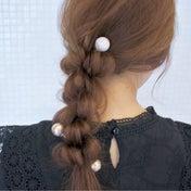 ヘアバトンを使ったドーナツポニーアレンジ hair arrange & hair set