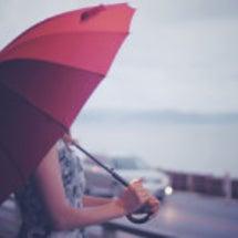 【くらし】傘の先の行…