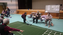 笑顔で楽しく健康作り 交流コースの部 岩滝地域囲碁ボール交流会