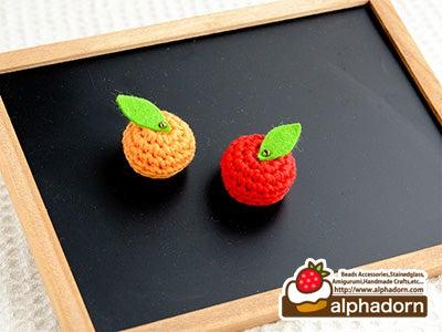 かぎ針で編むあみぐるみフルーツのマグネット