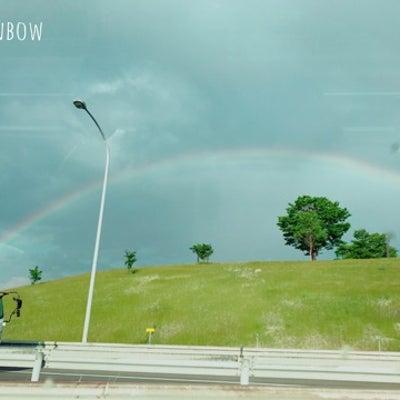 2つの虹の記事に添付されている画像