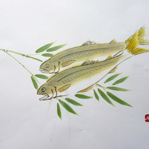 墨彩画教室 5月の手本の画像