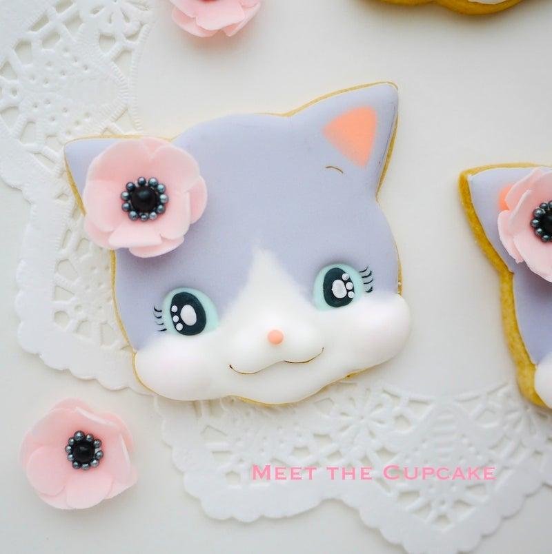 アイシングクッキー ねこ ネコ ほっぺぷくぷく