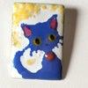 猫の七宝ペンダントトップの画像