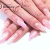 ピンクグラデーションの上品シェルネイルの画像