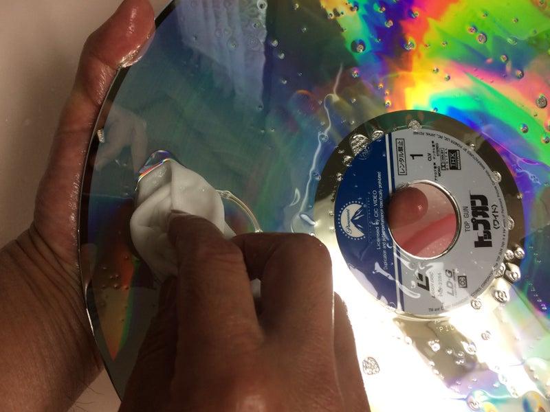 レーザーディスク盤を洗ってみま...