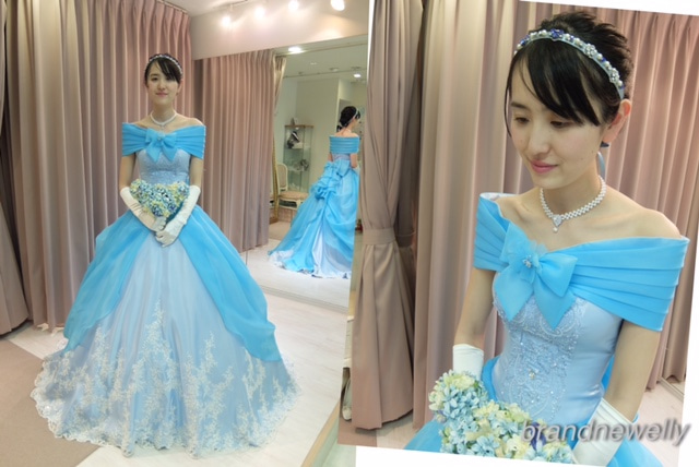 4c0e0dcfe7ae2 ブランニューエリーオリジナルのウエディングドレスを、カラー変更して制作致しました。