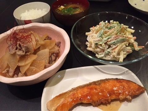 昨日の晩ごはん☆鮭の照り焼き まりえの大家族おうちごはん ...