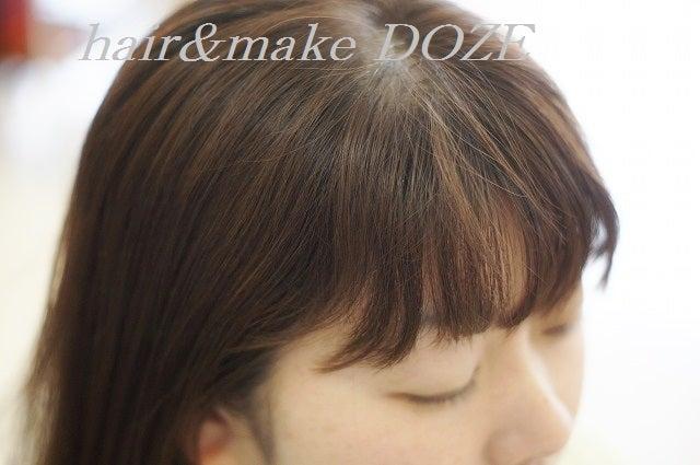 前髪のうねりが気になる方も縮毛矯正がおすすめです。