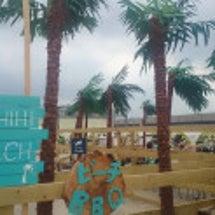 タチヒビーチに行って…