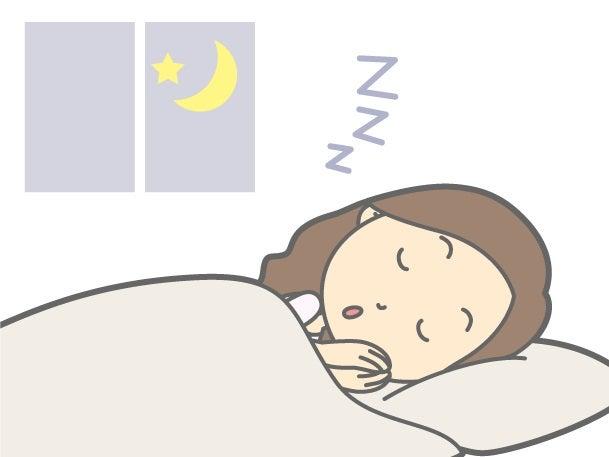眠る女性イラスト