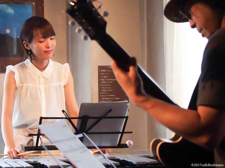市野元彦(ギター) 山田あずさ(ビブラフォン)