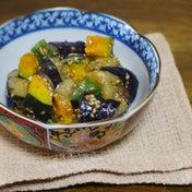 ひんやり香ばしい!茄子と夏野菜の胡麻味噌和え