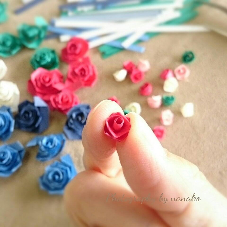 たっくさん作った薔薇。組み立てるとこうなります。の記事より