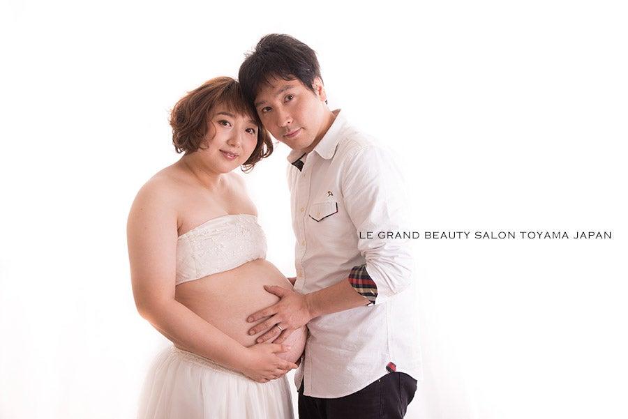 先日出産報告頂いたご家族さまのマタニティフォト