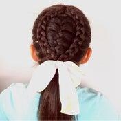 中から表編みがこんにちは♡なアレンジ(❁´ω`❁)