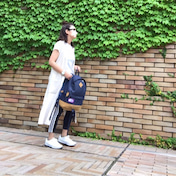 UniqloUの白Tシャツとジレにadidasパンツ/UNIQLO購入品