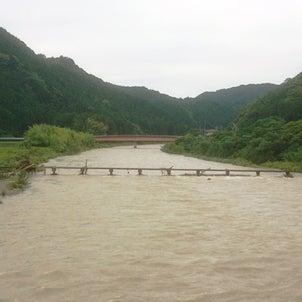 大雨後。の画像
