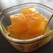 【余ったオレンジジュースでみかん寒天!】