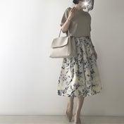 【coordinate】しまむら花柄スカートを大人っぽく