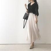 【coordinate】UNIQLOシフォンプリーツスカートで雨の日コーデ