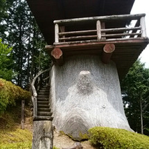 秋葉神社下社へ