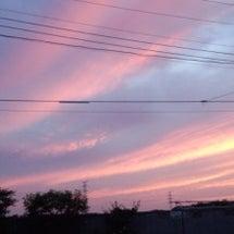 夕方の空と雲