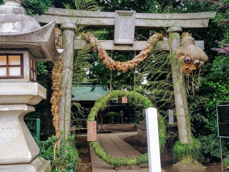 自由が丘エリア神社の「茅の輪」をくぐって『夏越の大祓い』。半年分のケガレをお清めしよう。