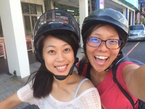 世界一周,台湾,台中,バイク,二人乗り