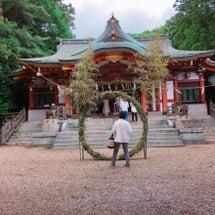 越木岩神社へ朔日参り…