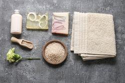 stock-photo-spa-set-liquid-soap-bars-of-handmade