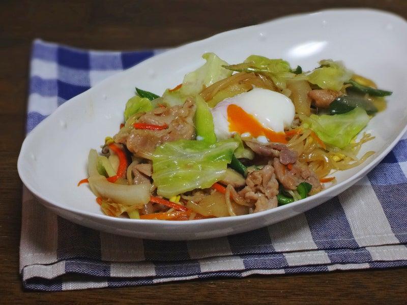 生姜焼き仕立ての野菜炒め