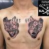 タトゥー×ツーフェイス×胸の画像