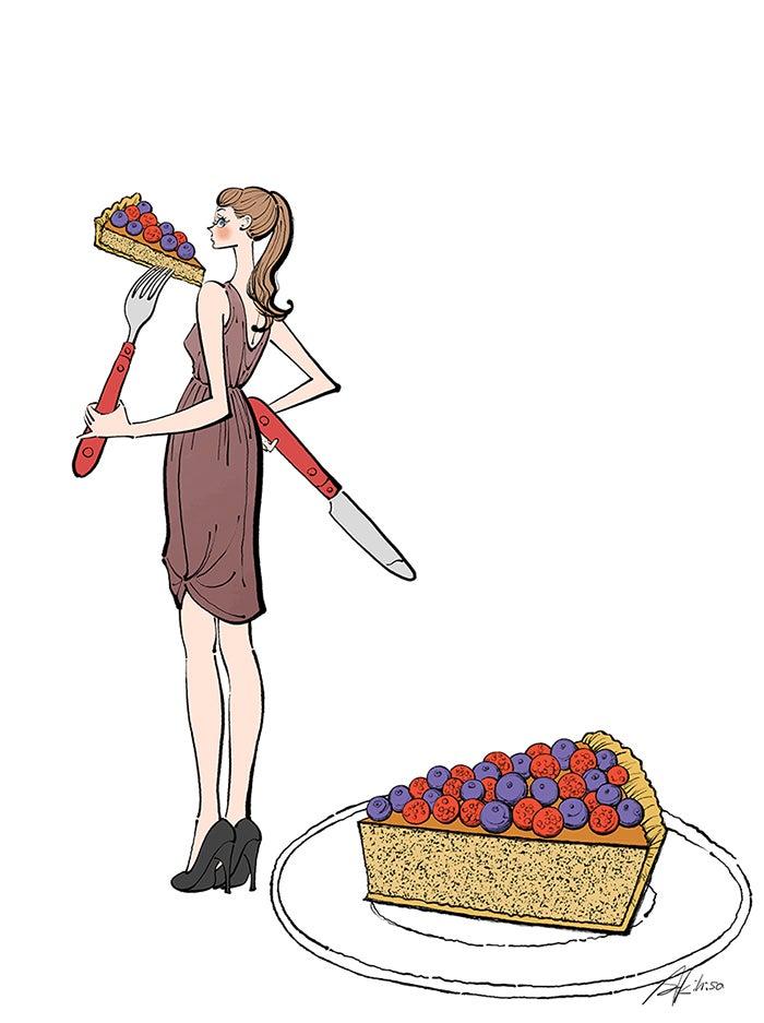 ケーキ,食べる,タルト,女性,イラスト作成のご依頼