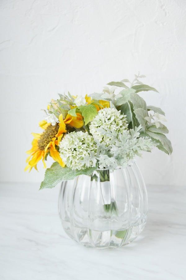 造花 アートフラワー 人工水 向日葵