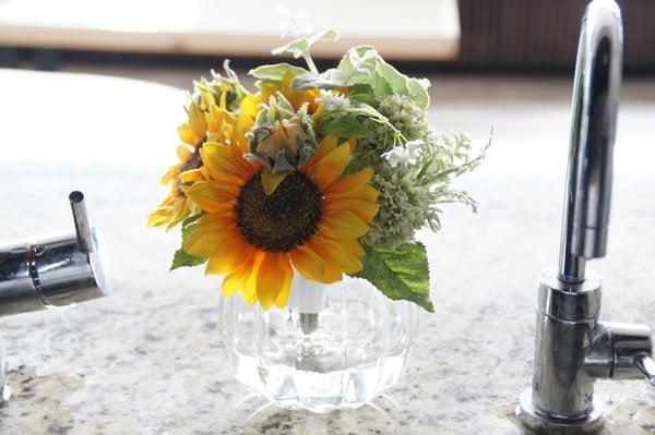 造花 アートフラワー ひまわり キッチン