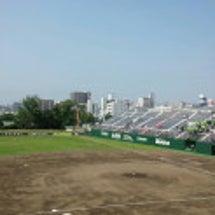 高校野球初戦。