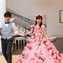 お花ドレスの花嫁さま…